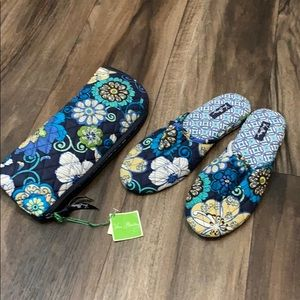 Vera Bradley Slippers with Pouch